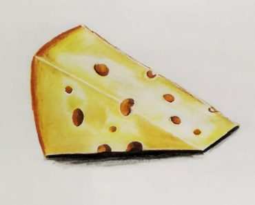 How to draw a cheese Step by Step