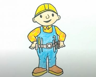 How to draw bob the builder Step by Step