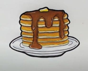 How to draw pancakes